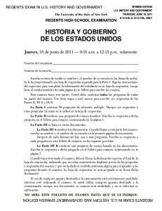 HISTORIA Y GOBIERNO DE LOS ESTADOS UNIDOS
