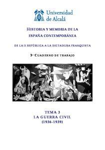 HISTORIA Y MEMORIA DE LA