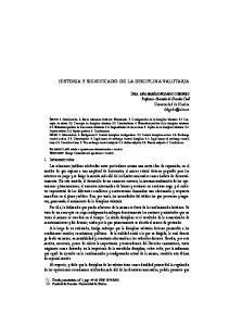 HISTORIA Y SIGNIFICADO DE LA DISCIPLINA VALUTARIA