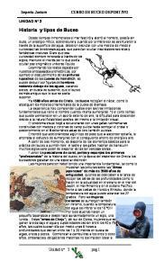 Historia y tipos de Buceo