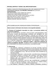 HISTORIAL CIENTIFICO Y TECNICO DEL GRUPO INVESTIGADOR