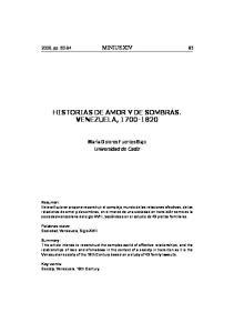 HISTORIAS DE AMOR Y DE SOMBRAS. VENEZUELA,