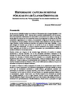 HISTORIAS DE CAPTURA DE RENTAS