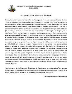 HISTORIAS DE LA VIRGEN DE AYQUINA