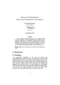 Historias de Matemáticas Historia del experimento barométrico