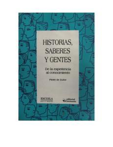Historias, saberes y gentes