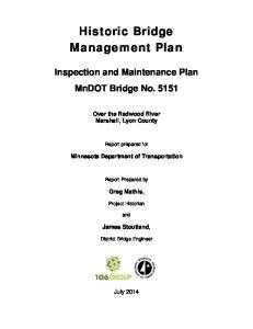 Historic Bridge Management Plan