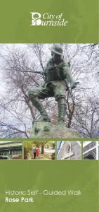 Historic Self - Guided Walk Rose Park