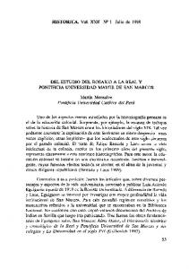 HISTORICA. Vol. XXII N 2 1 Julio de 1998
