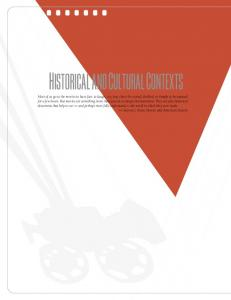 HISTORICAL AND CULTURAL CONTEXTS