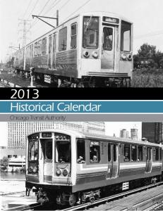 Historical Calendar Chicago Transit Authority
