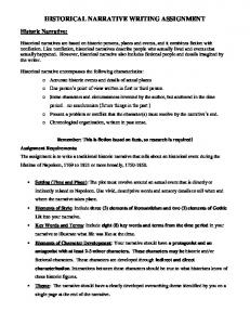 HISTORICAL NARRATIVE WRITING ASSIGNMENT
