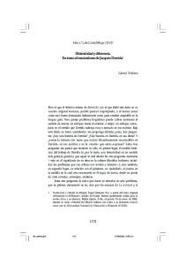 Historicidad y diferencia. En torno al mesianismo de Jacques Derrida 1