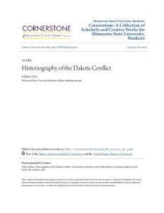 Historiography of the Dakota Conflict