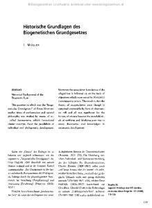 Historische Grundlagen des Biogenetischen Grundgesetzes