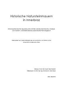 Historische Natursteinmauern in Innerbraz