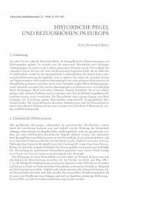 HISTORISCHE PEGEL UND BEZUGSHÖHEN IN EUROPA