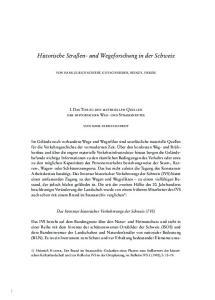 Historische Straßen- und Wegeforschung in der Schweiz