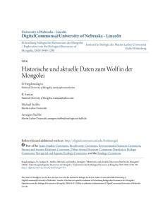Historische und aktuelle Daten zum Wolf in der Mongolei