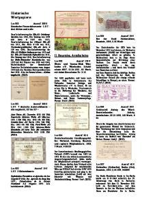 Historische Wertpapiere: