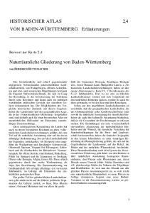 HISTORISCHER ATLAS 2, 4 VON BADEN-WÜRTTEMBERG Erläuterungen