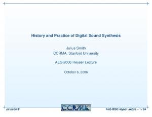 History and Practice of Digital Sound Synthesis