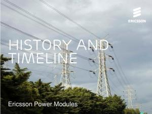 History and timeline. Ericsson Power Modules