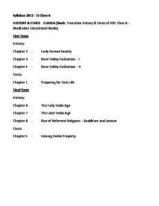 HISTORY & CIVICS CLASS 6 (Book: Transition History & Civics of ICSE Class 6 Madhuban Educational Books)