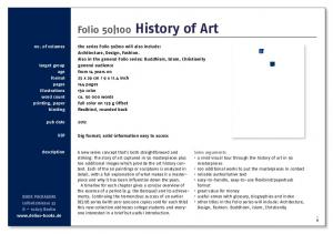 History of Art. Folio History of Art. no. of volumes