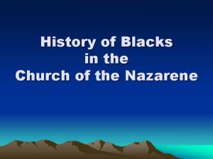 History of Blacks in the Church of the Nazarene