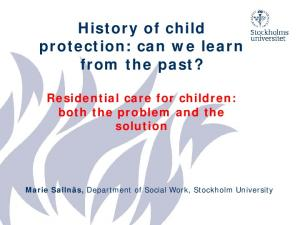 History of child protection: can we learn from the past?