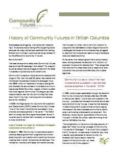 History of Community Futures in British Columbia