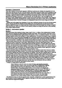 History Revolutions GA 3: Written examination