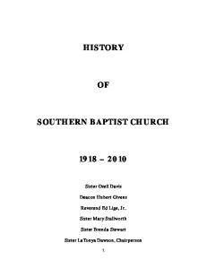 HISTORY SOUTHERN BAPTIST CHURCH