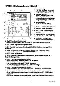 HITACHI Kabelfernbedienung PSC-A64S