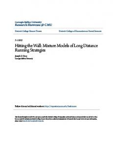 Hitting the Wall: Mixture Models of Long Distance Running Strategies