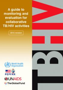 HIV activities revision