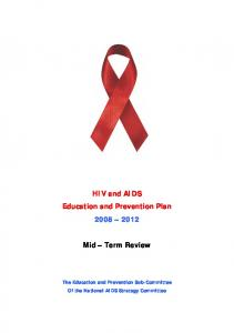 HIV and AIDS Education and Prevention Plan Mid Term Review