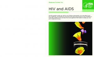 HIV and AIDS. Medicines To Help You