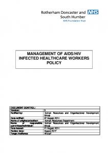 HIV INFECTED HEALTHCARE WORKERS POLICY