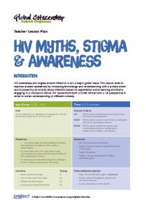HiV MYths, Stigma & Awareness