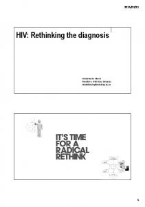 HIV: Rethinking the diagnosis
