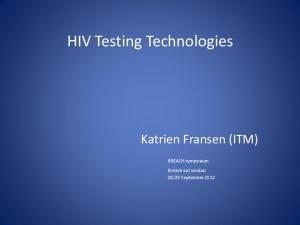 HIV Testing Technologies