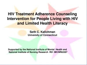 HIV Treatment Adherence Counseling Intervention for People Living with HIV and Limited Health Literacy