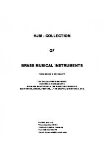 HJM - COLLECTION BRASS MUSICAL INSTRUMENTS