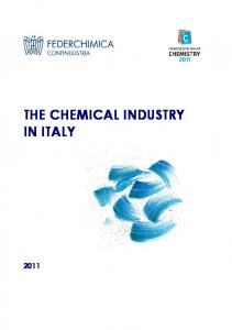 HK49 THE CHEMICAL INDUSTRY IN ITALY