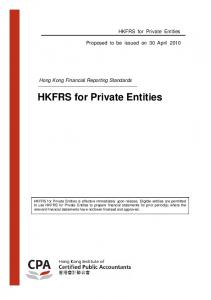 HKFRS for Private Entities