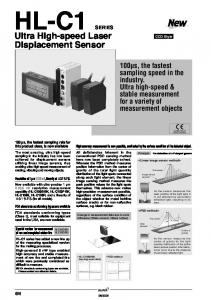 HL-C1. Ultra High-speed Laser Displacement Sensor