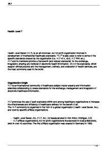 HL7 Health Level 7 Organization Origin