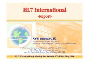 HL7 International -Report-